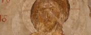Ancient fresco Christ icon - Saint Catherines Monastery - photo by John McGuckin