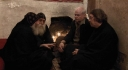 Dr Norris Chumley and Father John McGuckin with  Frs Lazarus and Ruwais - St Antony Monastery