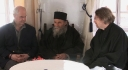 Dr Norris Chumley and Father John McGuckin with Fr Pavlos-St Catherine\'s Monastery